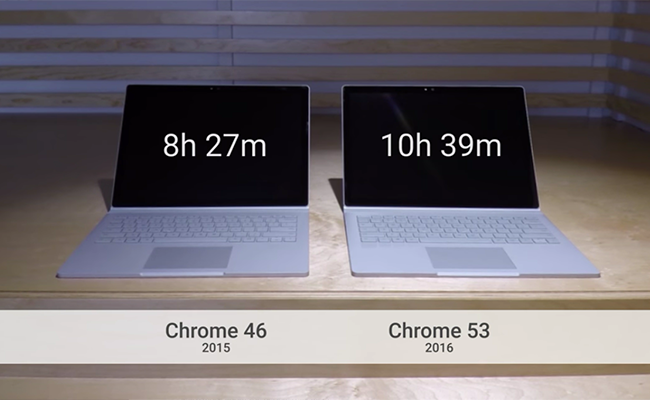 Microsoft chê Chrome tốn pin, Google đã có câu trả lời