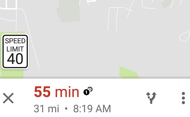 Google bắt đầu hiển thị tốc độ tối đa trên đường