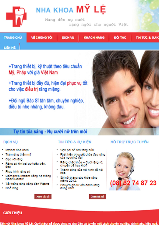 Website Nha Khoa Mỹ Lệ