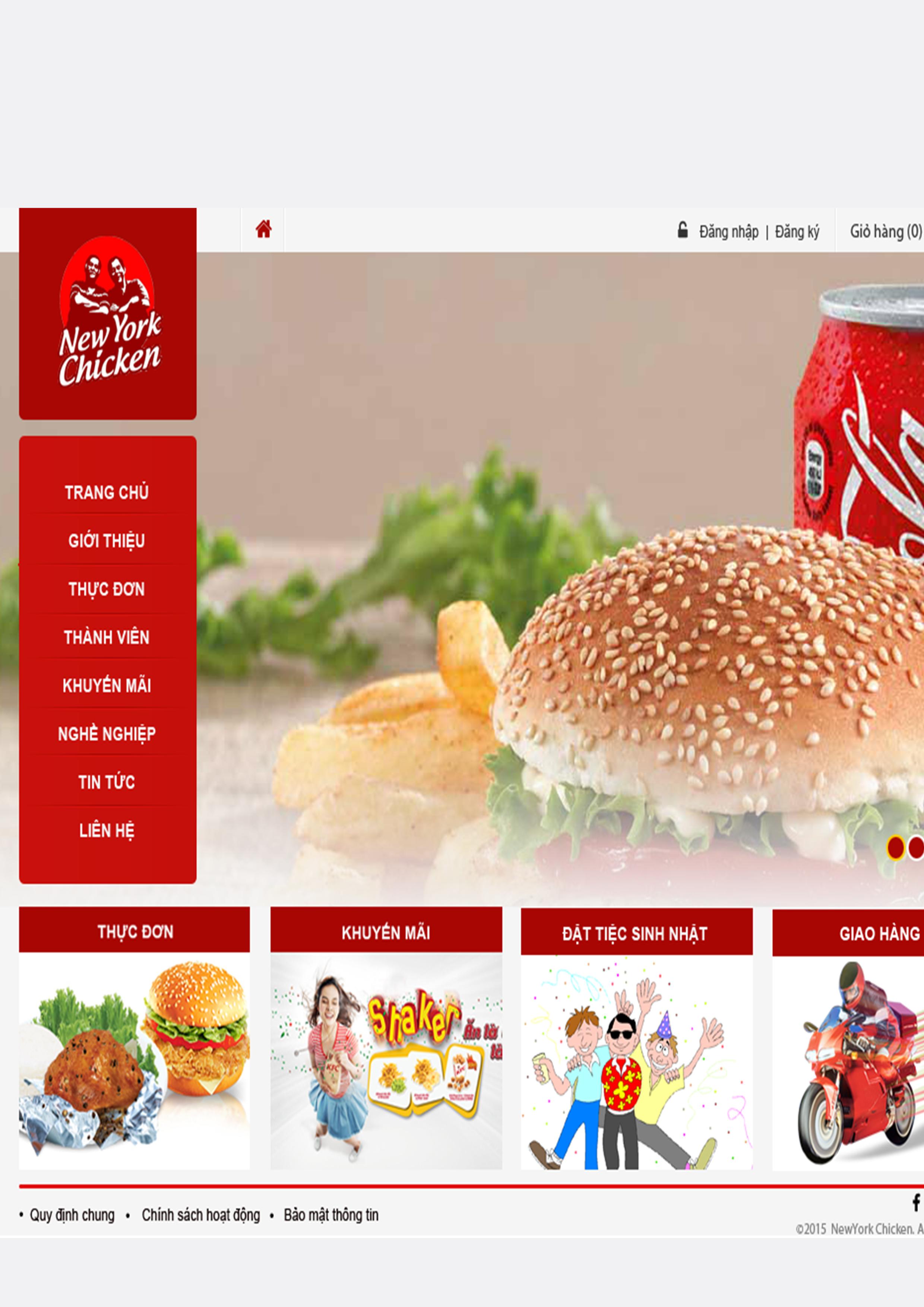 Website Nhà Hàng NYCR